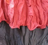 vestito foglia rosso
