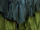 vestito foglia verde scuro